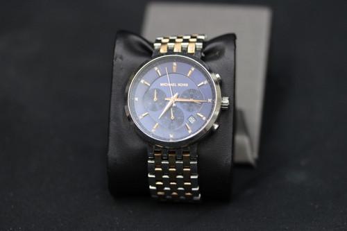 Michael Kors MK6384 Klyer Stainless & Rose Gold Tone Chronogragh Watch
