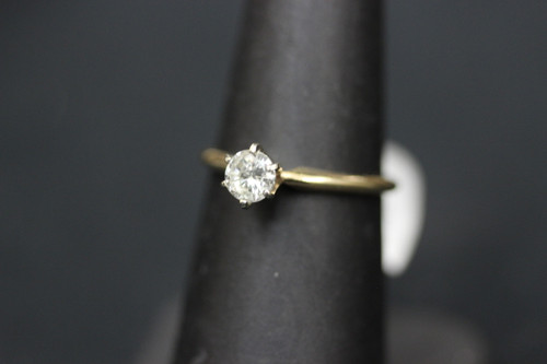 14k Yellow Gold 0.50ct Round Diamond Solitaire Engagement Ring