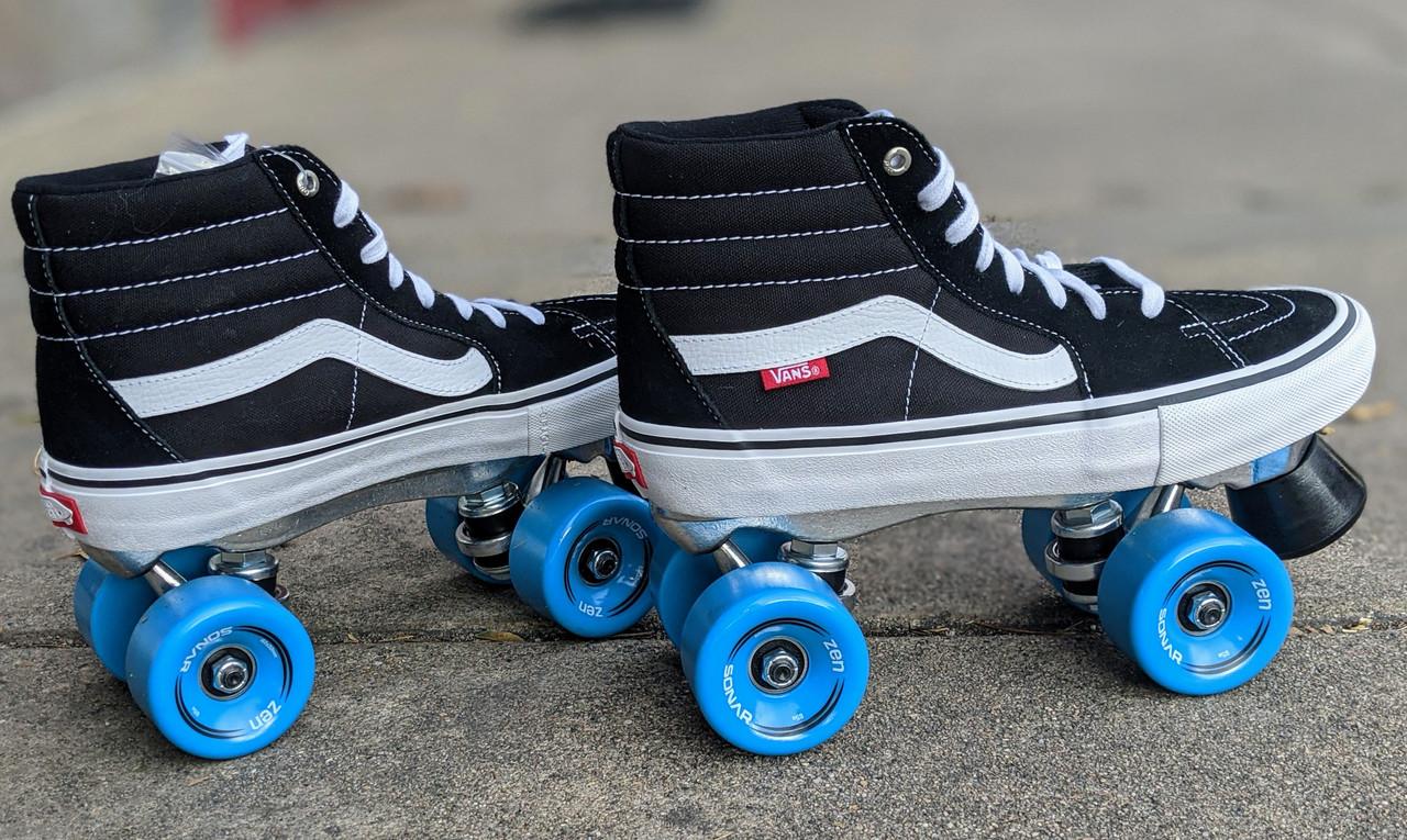 Vans Custom Roller skates - Sk8 - Hi Pro Black / White