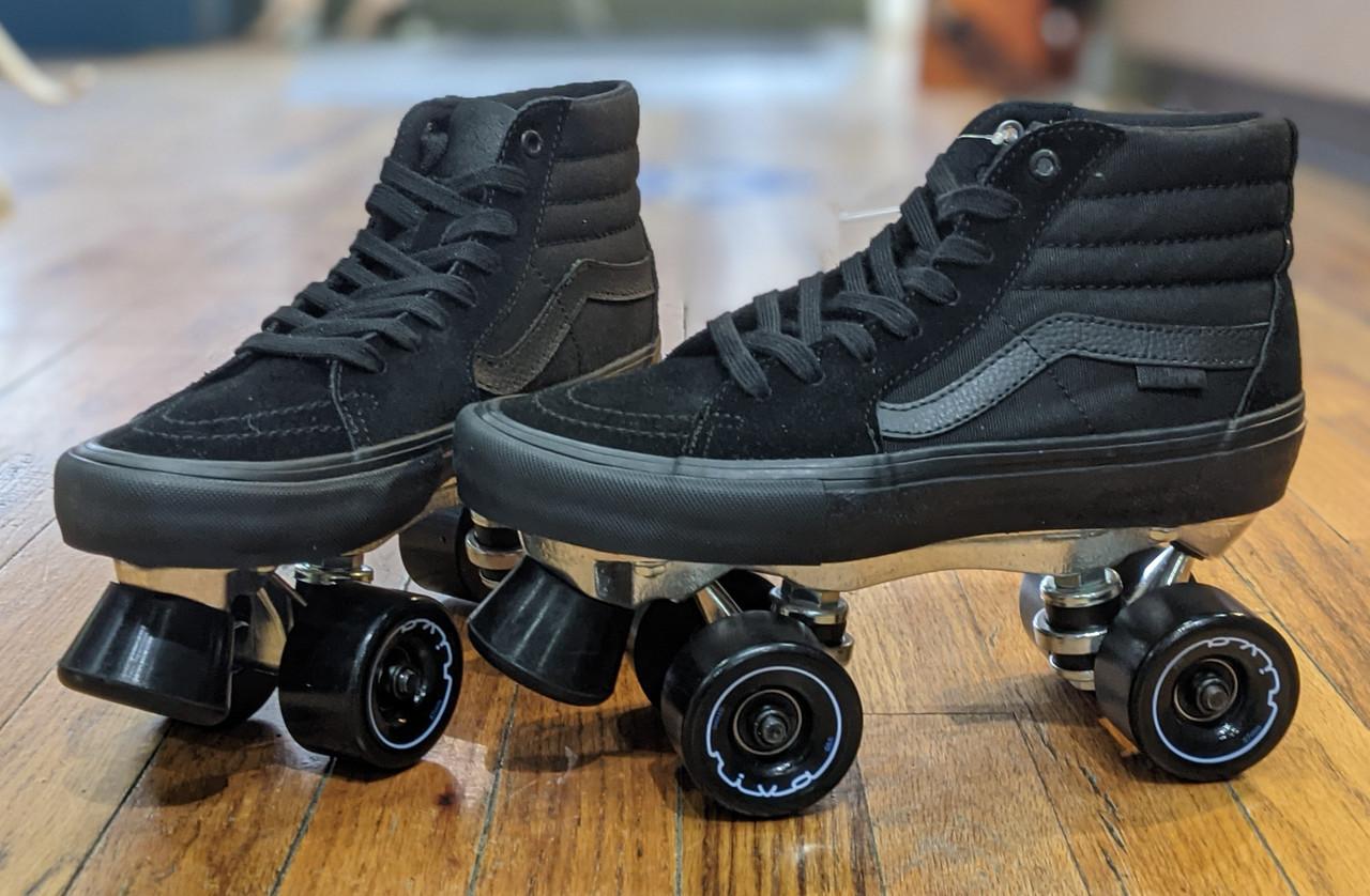 Vans custom Roller Skates - Sk8 - Hi Pro Blackout