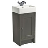 Hampton 400 Cloakroom Basin Unit - Pewter