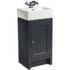 Hampton 400 Cloakroom Basin Unit - Slate Grey