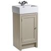 Hampton 400 Cloakroom Basin Unit - Mocha