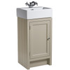 Hampton 400 Cloakroom Basin Unit - Mocha