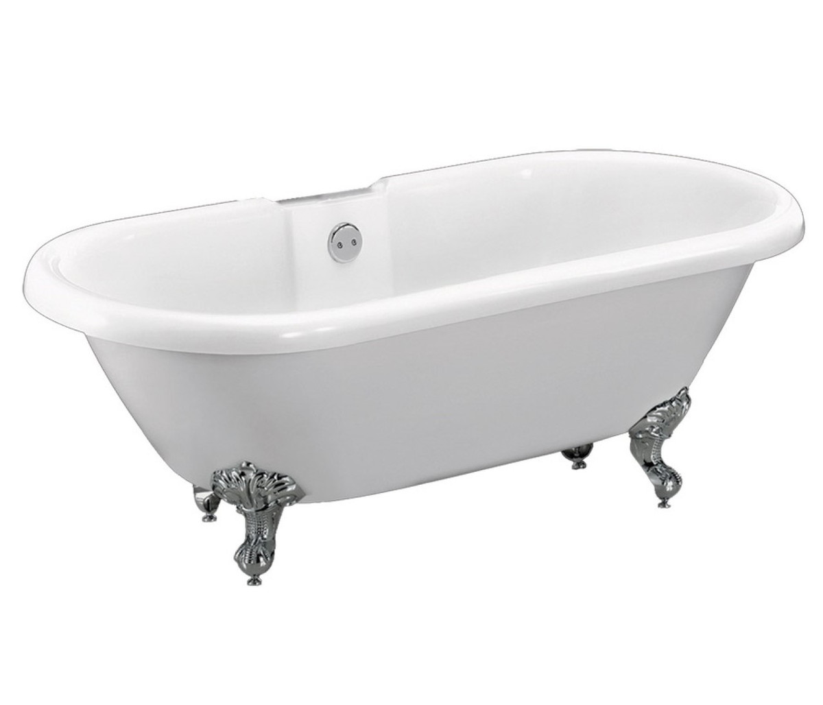 Dual Traditional Rolltop Freestanding Bath including Chrome Feet  order online @ www.tuscanytiles.co.uk