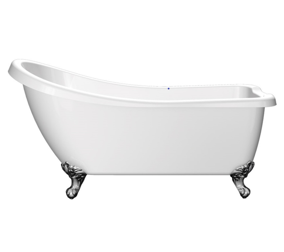Tuscany Traditional Slipper Bath with Chrome Ball Foot