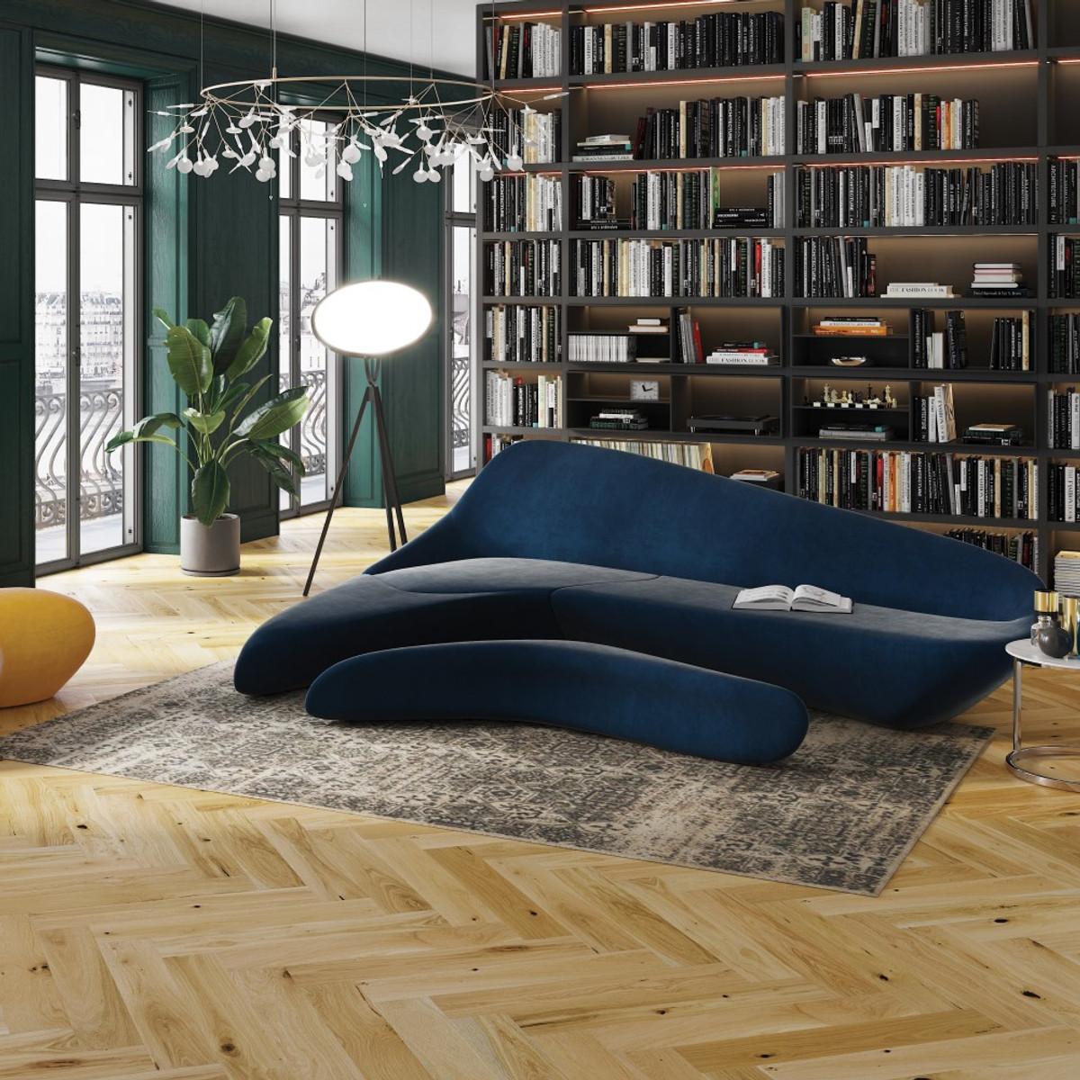 Tuscany Herringbone Oak brushed Natural Oiled Room Setting
