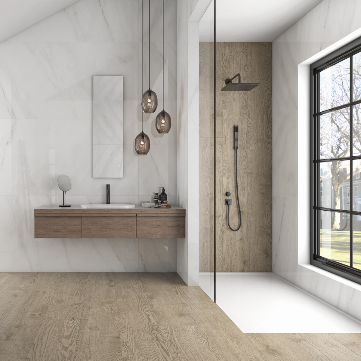 Tuscany LE RECTIFIED GLAZED PORCELAIN TILE Marble 45x90 order instore or online today @ www.tuscanytiles.co.uk
