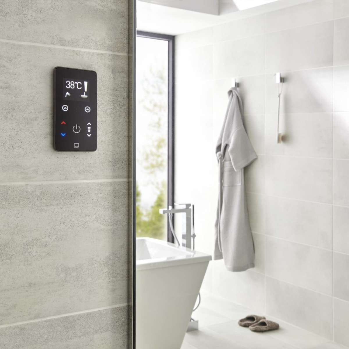 Sensori Smart Touch Dual Outlet Control and Wireless Remote www.tuscanytiles.co.uk