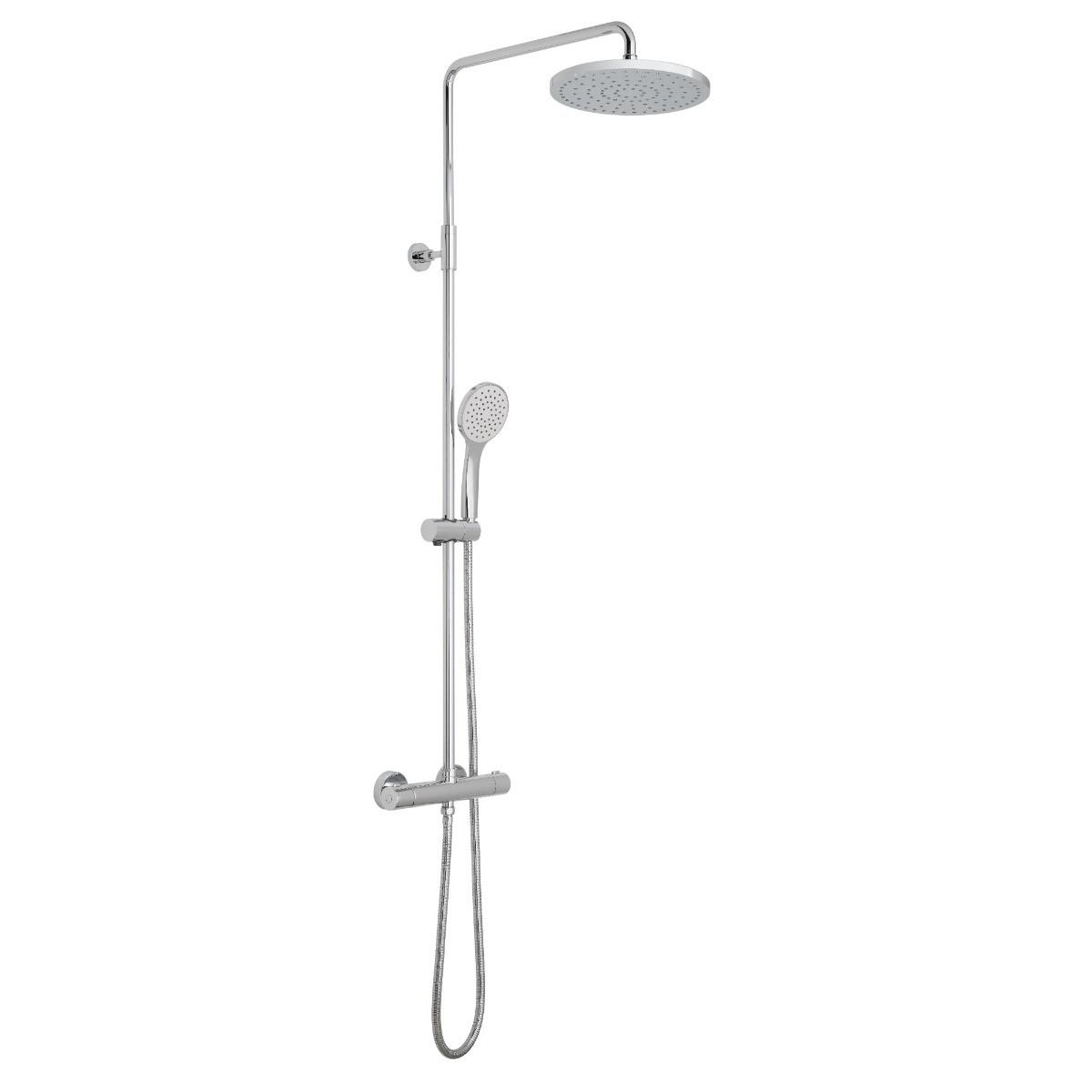 Velo Adjustable Round Shower Column