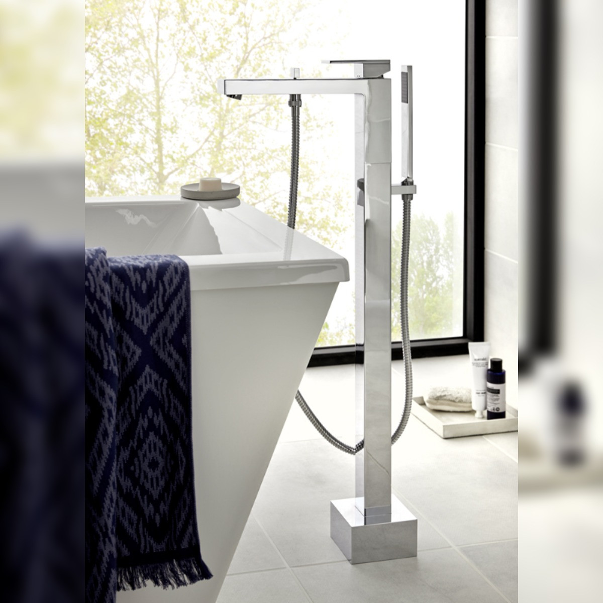 Notion Floor Mounted Bath Shower Mixer