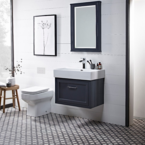 Hampton 700 Wall Mounted Basin Unit - Slate Grey