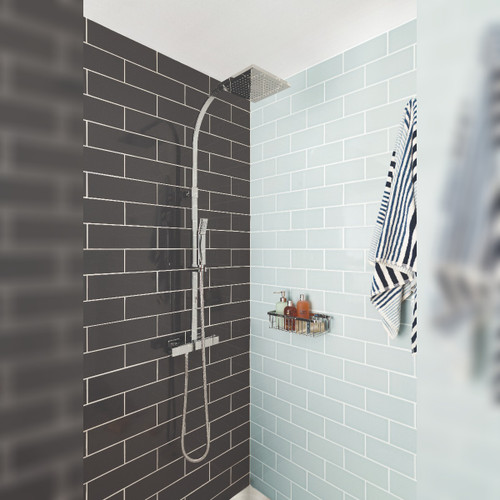 Velo Square Thermostatic Shower Column