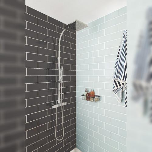 Velo Square Thermostatic Shower Column
