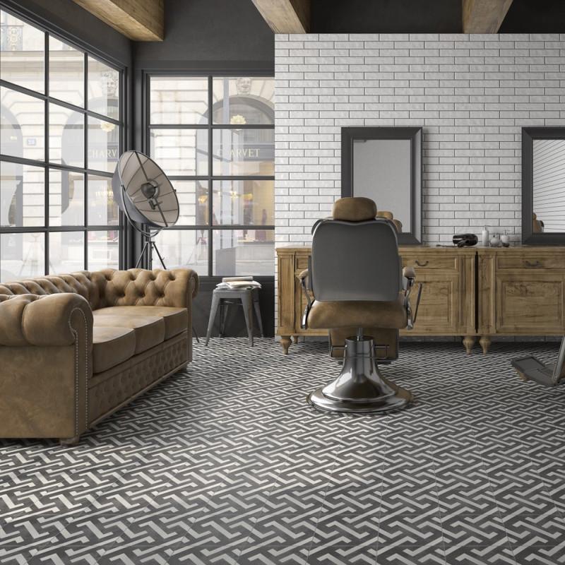 Tuscany Art Signac Pattern Floor or Wall Tile 22cmx22cm