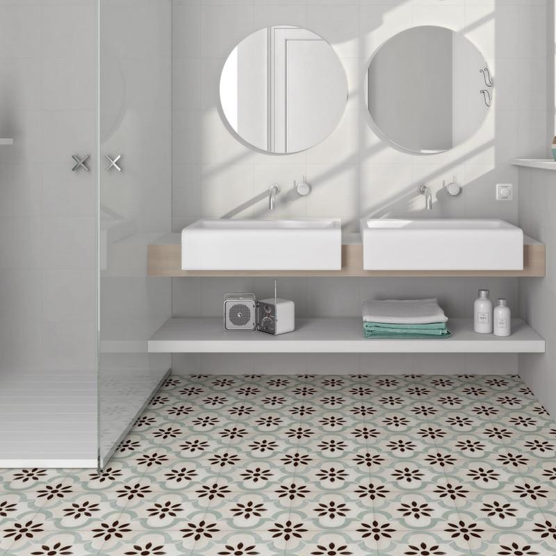 Tuscany Art Seurat Pattern Floor or Wall Tile 22cmx22cm