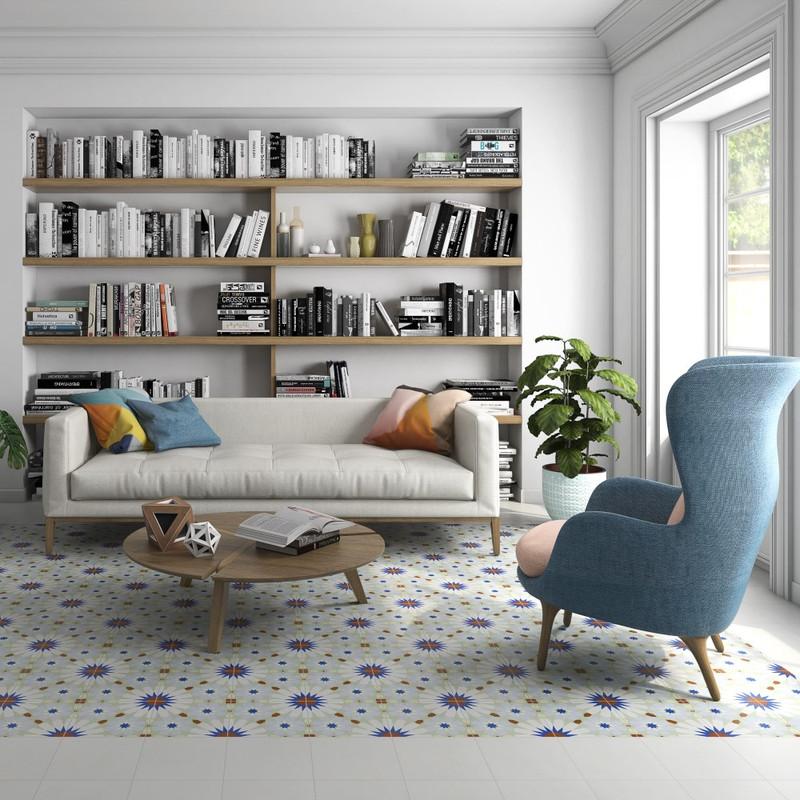 Tuscany Art Cassat Pattern Floor or Wall Tile 22cmx22cm