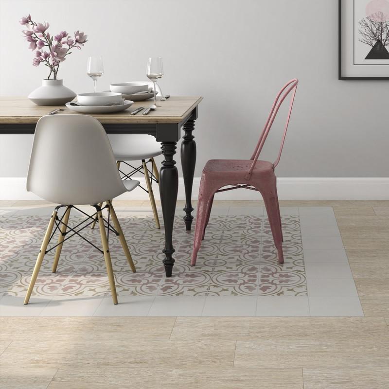 Tuscany Art Corot Pattern Floor or Wall Tile 22cmx22cm