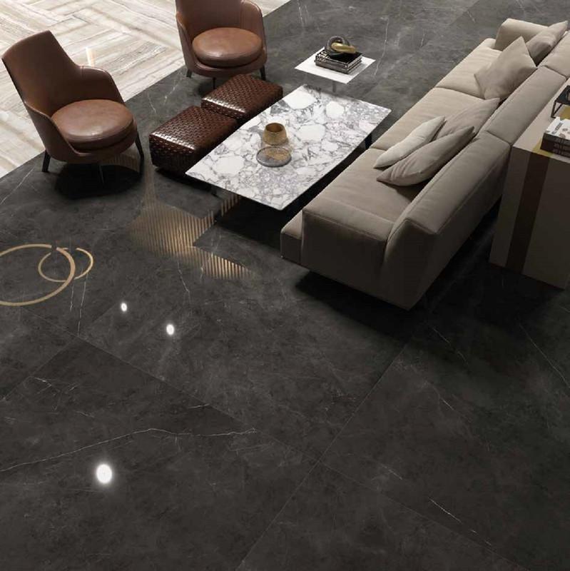 Sensi Large Format Black Polished Floor Tile