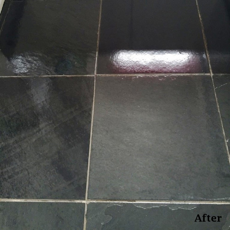 Natural Black Slate After Sealing with SMP Slate Seal Gloss