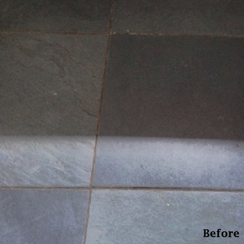 Natural Black Slate Before Sealing