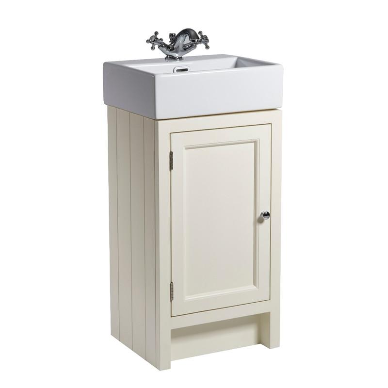 Hampton 400 Cloakroom Basin Unit - Vanilla
