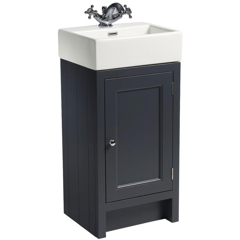 Hampton 400 Cloakroom Basin Unit - Slate Grey
