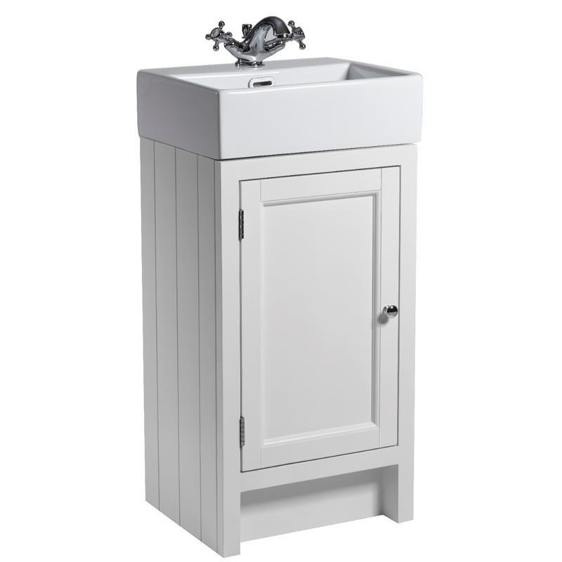 Hampton 400 Cloakroom Basin Unit - Chalk White