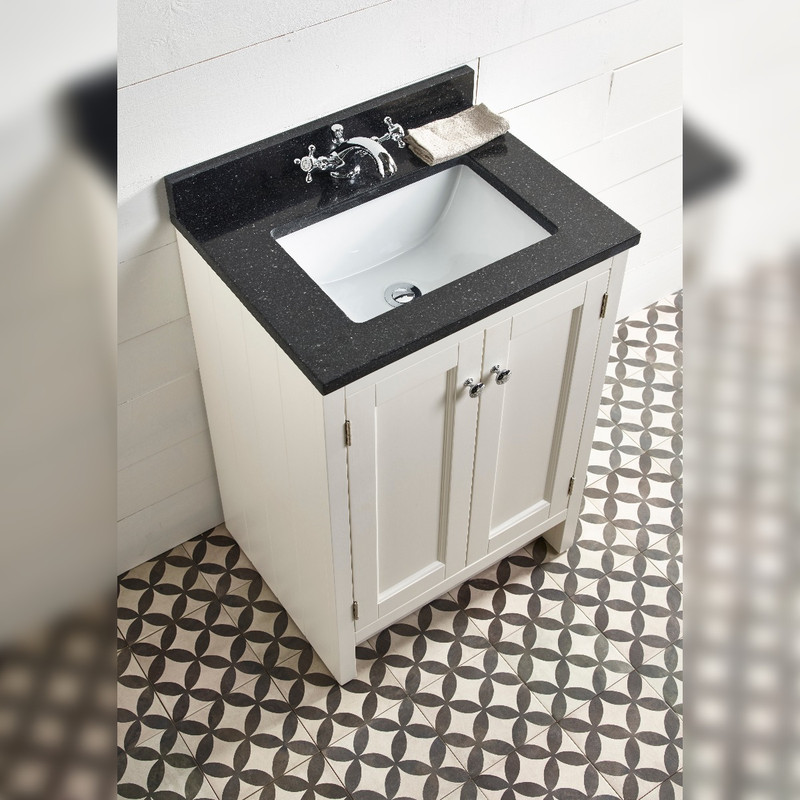 Hampton 600 Underslung Basin Unit- Chalk White