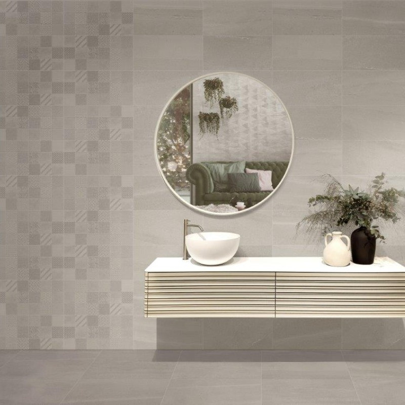 Stoneage Wall Tile - Grey and Stoneage Kit Décor Wall Tile - Grey