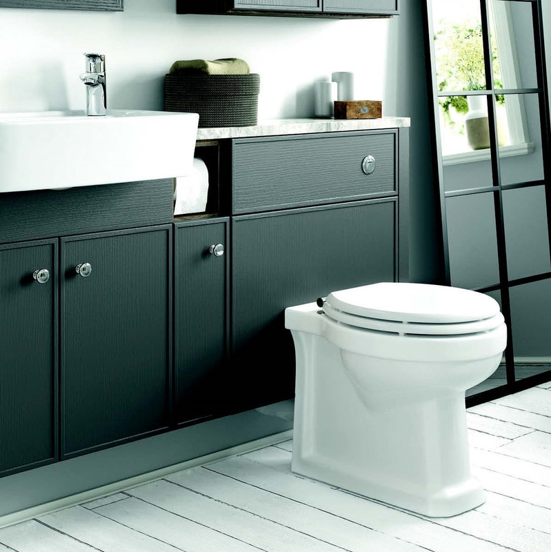 Rosedale Thistle Rosedale features a distinctive raised profile door design to add an extra dimension to your bathroom. This short projection run of furniture maintains all of the functionality of a standard run but doesn't take up valuable floor space