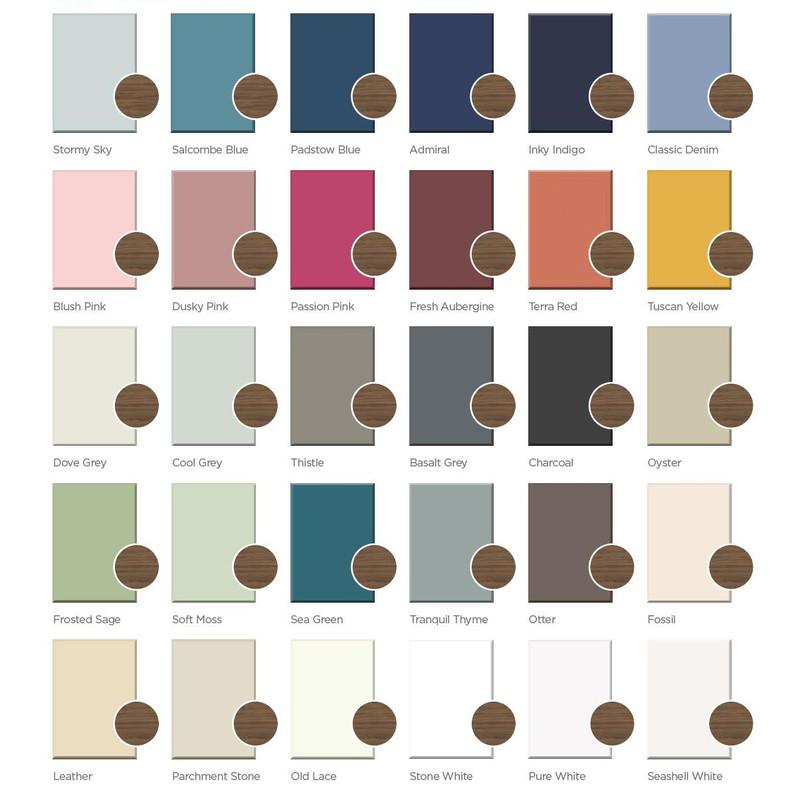 Rosedale Bathroom Unit Piant Colours
