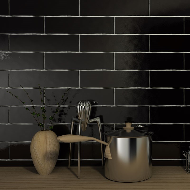 Block Black Glossy7.6x30.2