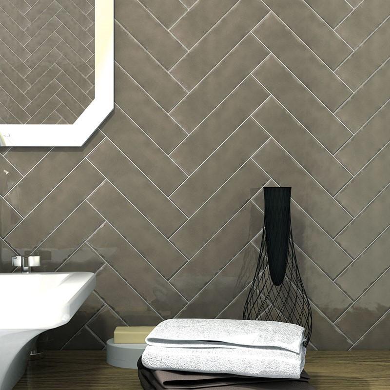 Block Cool Glossy Grey 7.6x30.2