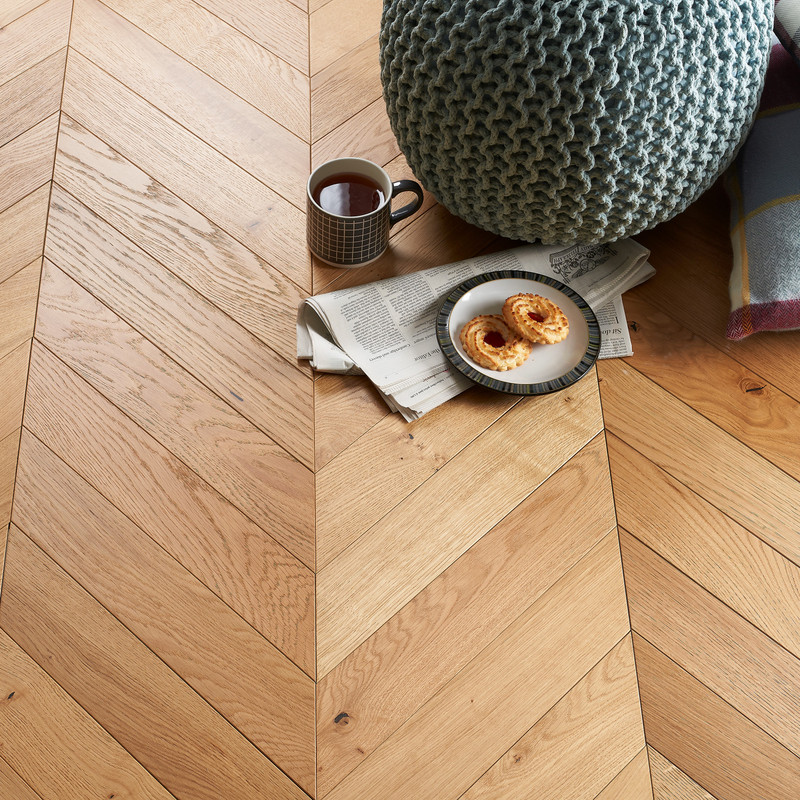 Natural ABC Oak Plank Brushed UV Oiled 15x90x45mm
