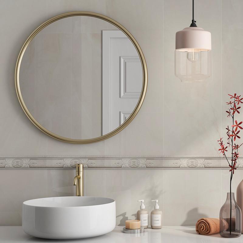 Tus Lem Cream 33x100 Onix Gloss Marble Style Wall Tile