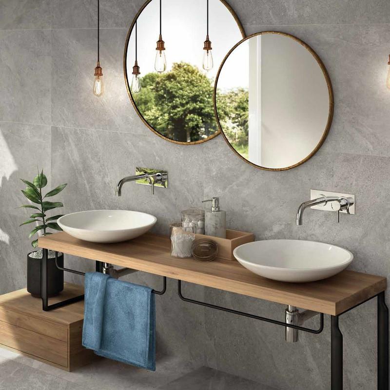 Tus Mono Greige 60x120  bathroom Wall and Floor