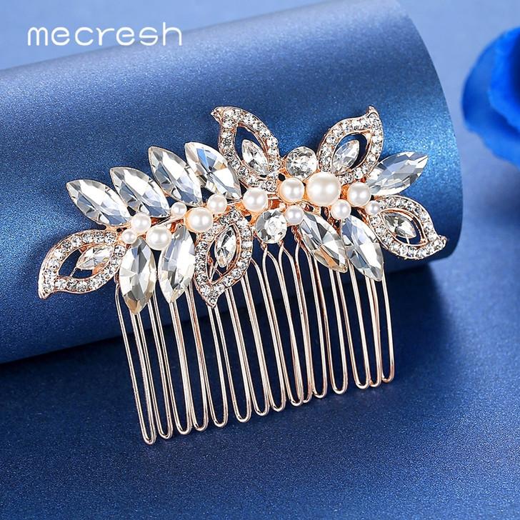 pearl hair comb bridal headpiece silver hair comb pearls gold hair comb bridal hair accessories Bridal hair comb wedding headpiece