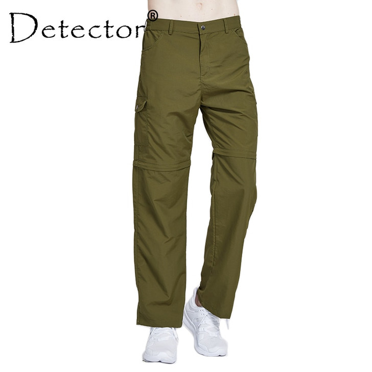 Detector Men's Hiking Pants Quick Dry Removable Convertible trousers Outdoor Breathable Men Pant Camping Trekking Fishing Shorts Hiking Pants 