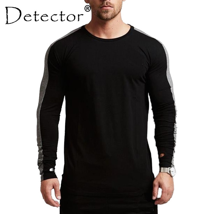 Detector Mens Autumn Winter Sportswear Fitness Running Tops Tight Long Sleeves Round Neck Shirts Elastic Quick Dry Jerseys|running jersey|fitness men toprunning long sleeve men