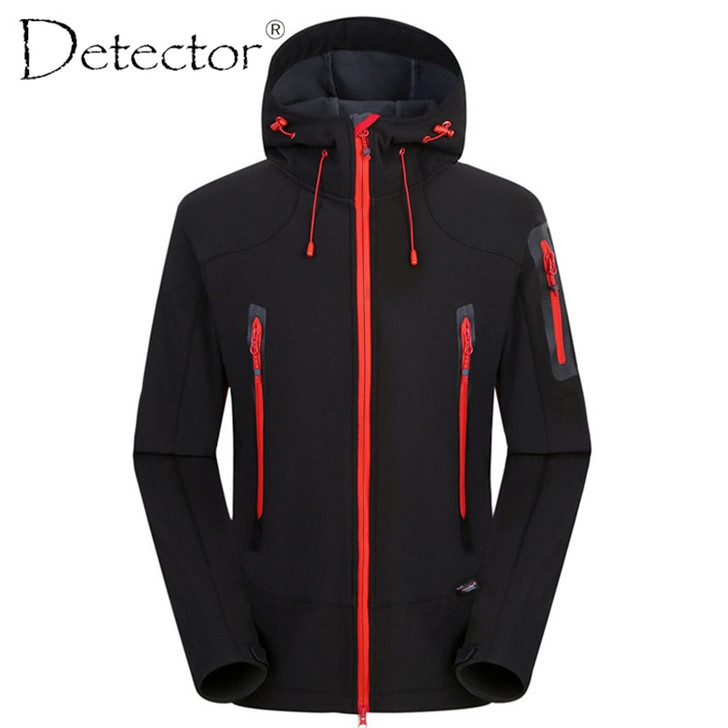 Detector Outdoor Hunting Camping Hiking Jacket Windproof Waterproof Breathable Quick Dry Softshell Jacket Men Women WClothing softshell jacket men hiking jacketssoftshell jacket