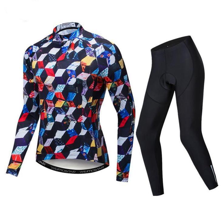 Men Quick Dry MTB Cycling Wear  Long Sleeve