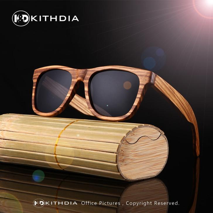 100% Real Zebra Wood Sunglasses