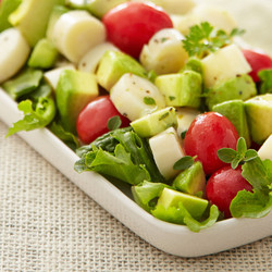 Avocado, Cherry Tomatoes and Heart of Palms Salad