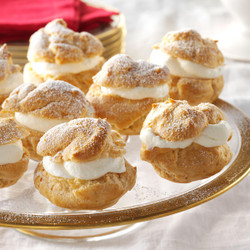 Mini Choux Puffs Filled with Crème Patisserie
