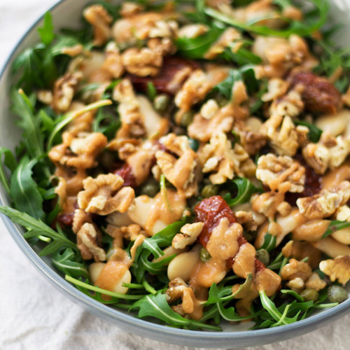 Lentils,Dates and Walnuts Salad