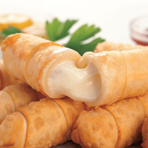 frozen cheese pastry fingers ready to fry