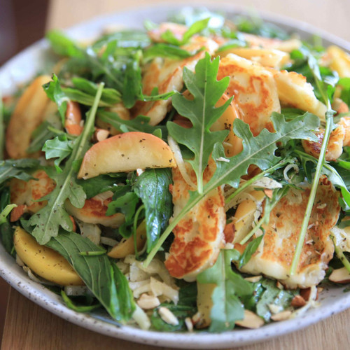 Apple, Halloumi, Pine Nuts and Rocket Salad