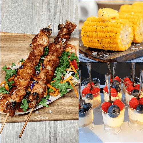 Charcoal Skewers for Corporate Catering