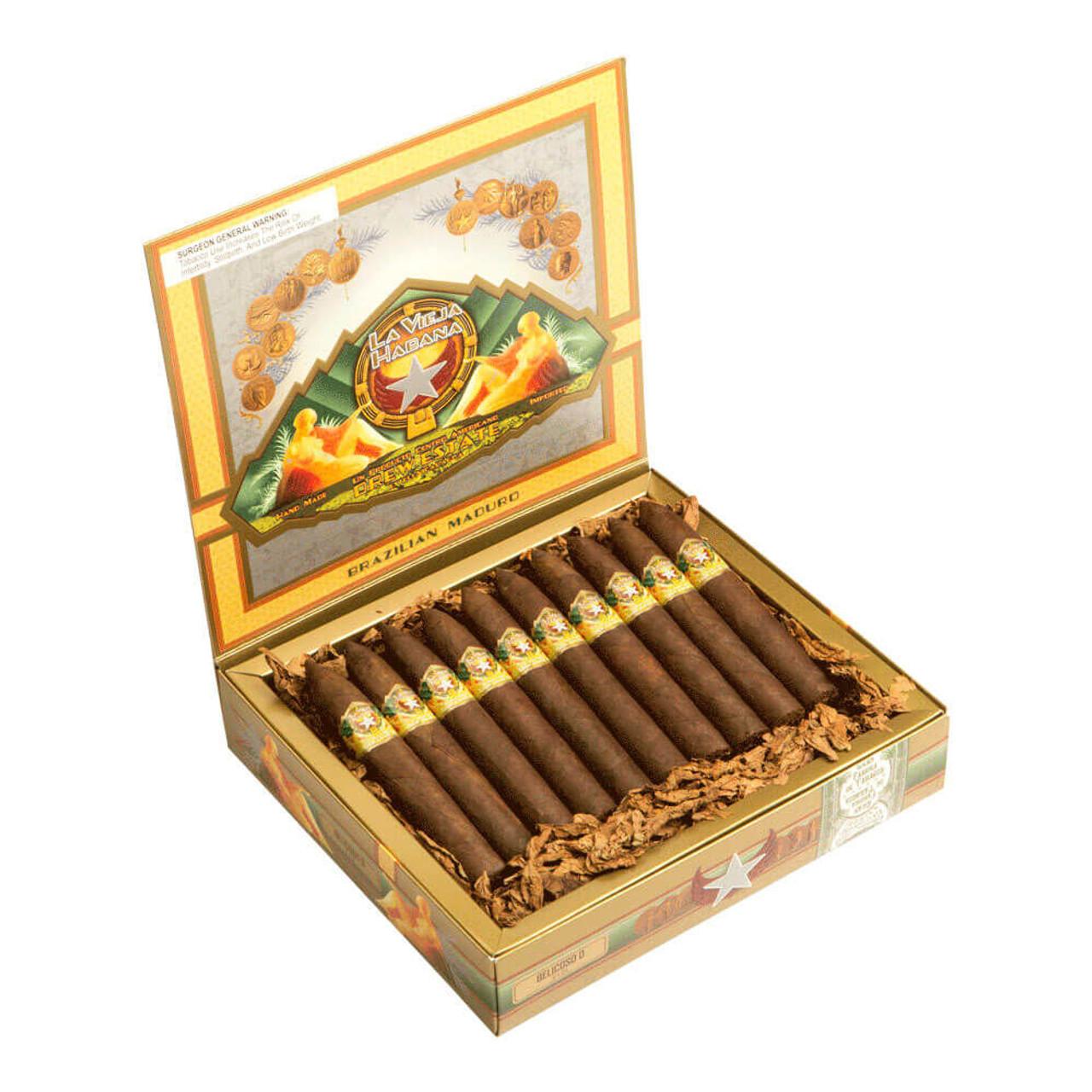 La Vieja Habana Belicoso D Maduro Cigars - 6 x 54 (Box of 20)